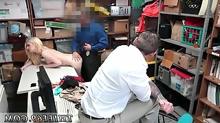Cop punished and female police officer Upon being brought to the backroom for questioning