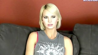 Amateur Blonde Chick Didnt Suck Such Humondous Cock Before