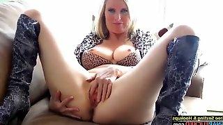 Fantastic mature milf dirty talk and pussy masturbating
