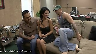 Amazingly beautiful fit brunette wife caught her husband cheating so she had to get her revenge
