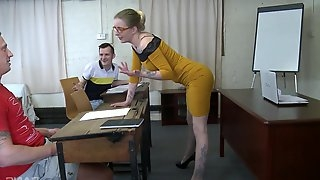 Blonde mature Josette Most shows her perfect body and fucking skills