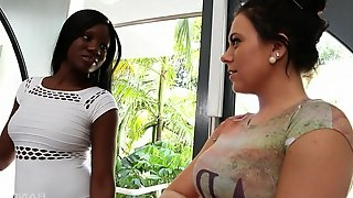 Mia Pearl enjoys amazing licking and bisexual experience with Kay Love