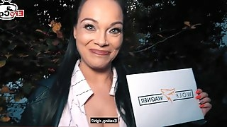 German chubby mom at public flirt EroCom date
