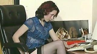 British Amateurs - Office Girls Strip