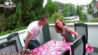 German young normal girl next door couple